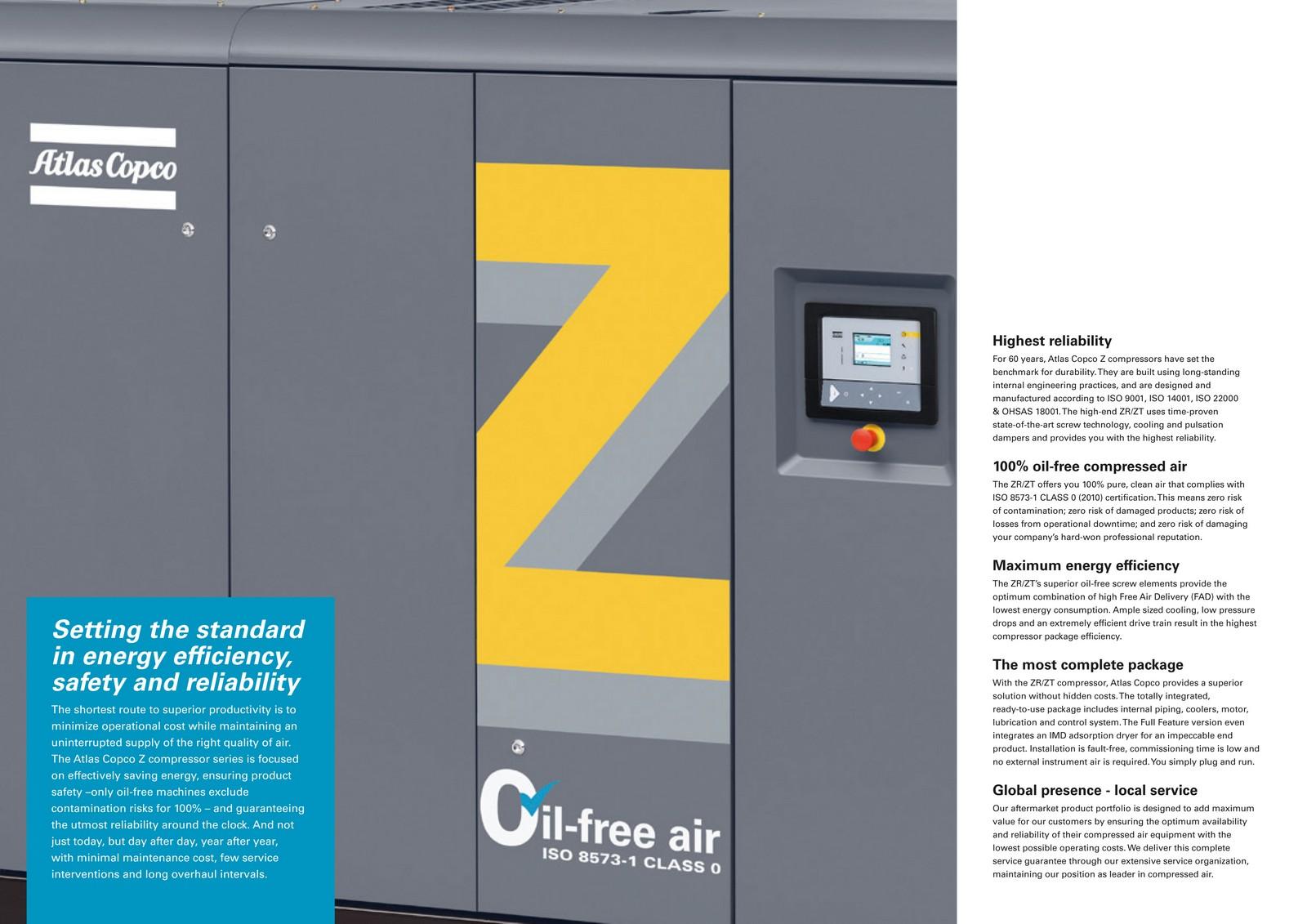 Zr Zt 110 900 Oil Free Compressed Air Equipment Atlas Copco 1600 Wiring Diagram Power Plants